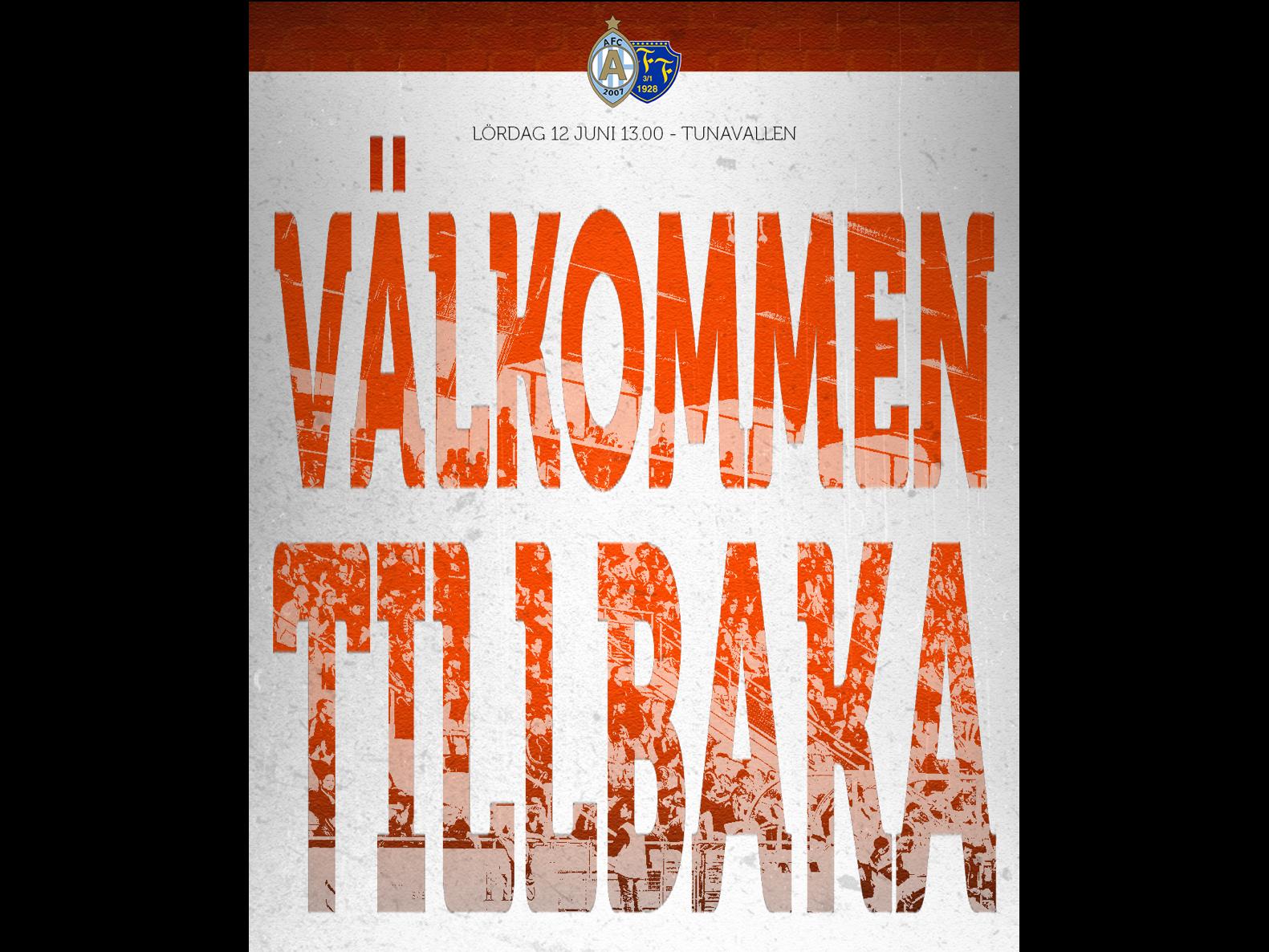 Publikinformation AFC Eskilstuna - Falkenbergs FF, 12 juni kl. 13.00